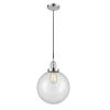 This item: Franklin Restoration Polished Chrome 10-Inch One-Light Pendant with Clear Beacon Shade and Black Textured Cord