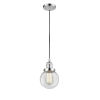This item: Beacon Polished Chrome One-Light Mini Pendant with Clear Glass