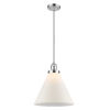 This item: X-Large Cone Polished Chrome LED Pendant with Matte White Cased Glass