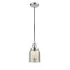 This item: Small Bell Polished Chrome One-Light Mini Pendant with Silver Plated Mercury Glass