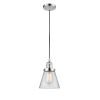 This item: Small Cone Polished Chrome One-Light Mini Pendant with Clear Glass