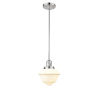 This item: Small Oxford Polished Nickel 3.5W LED Mini Pendant with Matte White Cased Glass