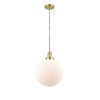 This item: Franklin Restoration Satin Gold 12-Inch LED Pendant with Matte White Cased Beacon Shade and Black Textured Cord