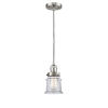 This item: Franklin Restoration Brushed Satin Nickel Six-Inch One-Light Mini Pendant with Clear Canton Shade and Black Textured Cord