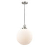 This item: Franklin Restoration Brushed Satin Nickel 12-Inch LED Pendant with Matte White Cased Beacon Shade and Black Textured Cord