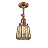 This item: Chatham Antique Copper 16-Inch LED Semi Flush Mount with Mercury Fluted Novelty Glass