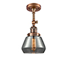 This item: Fulton Antique Copper 13-Inch One-Light Semi Flush Mount with Smoked Sphere Glass