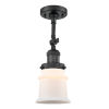 This item: Franklin Restoration Matte Black 14-Inch One-Light Semi-Flush Mount with Matte White Small Canton Shade