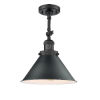 This item: Franklin Restoration Matte Black 13-Inch One-Light Semi-Flush Mount with Briarcliff Matte Black Metal Shade