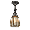 This item: Chatham Oiled Rubbed Bronze 16-Inch One-Light Semi Flush Mount with Mercury Fluted Novelty Glass