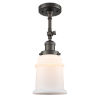 This item: Franklin Restoration Oil Rubbed Bronze 14-Inch One-Light Semi-Flush Mount with Matte White Canton Shade