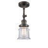 This item: Franklin Restoration Oil Rubbed Bronze 14-Inch LED Semi-Flush Mount with Small Clear Canton Shade