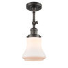 This item: Franklin Restoration Oil Rubbed Bronze 14-Inch One-Light Semi-Flush Mount with Matte White Bellmont Shade