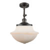 This item: Franklin Restoration Oil Rubbed Bronze 16-Inch LED Semi-Flush Mount with Matte White Cased Large Oxford Shade
