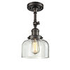 This item: Large Bell Oiled Rubbed Bronze 14-Inch One-Light Semi Flush Mount with Clear Dome Glass