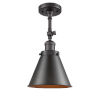 This item: Franklin Restoration Oil Rubbed Bronze 16-Inch One-Light Semi-Flush Mount with Appalachian Oil Rubbed Bronze Metal Shade