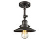 This item: Railroad Oiled Rubbed Bronze Eight-Inch LED Semi Flush Mount