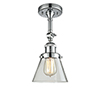This item: Small Cone Polished Chrome Six-Inch LED Semi Flush Mount with Clear Cone Glass