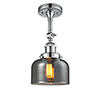 This item: Large Bell Polished Chrome 14-Inch LED Semi Flush Mount with Smoked Dome Glass