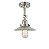 This item: Halophane Polished Nickel 11-Inch One-Light Semi Flush Mount with Halophane Cone Glass