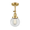 This item: Franklin Restoration Satin Gold 14-Inch LED Semi-Flush Mount with Clear Beacon Shade