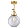 This item: Franklin Restoration Satin Gold 16-Inch LED Semi-Flush Mount with Large Clear Beacon Shade