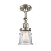 This item: Franklin Restoration Brushed Satin Nickel 14-Inch One-Light Semi-Flush Mount with Small Clear Canton Shade
