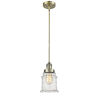 This item: Canton Antique Brass LED Hang Straight Swivel Mini Pendant with Seedy Glass