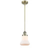 This item: Bellmont Antique Brass Seven-Inch One-Light Mini Pendant