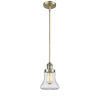 This item: Bellmont Antique Brass Seven-Inch One-Light Mini Pendant with Clear Glass