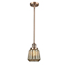 This item: Chatham Antique Copper Eight-Inch LED Mini Pendant with Mercury Fluted Novelty Glass
