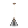 This item: X-Large Cone Antique Copper One-Light Hang Straight Swivel Pendant