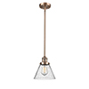 This item: Large Cone Antique Copper 10-Inch LED Mini Pendant with Seedy Cone Glass