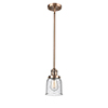 This item: Small Bell Antique Copper 10-Inch One-Light Mini Pendant with Seedy Bell Glass