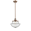 This item: Oxford School House Antique Copper 11-Inch One-Light Pendant with Seedy Bell Glass