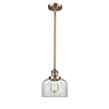 This item: Large Bell Antique Copper 10-Inch One-Light Mini Pendant with Clear Dome Glass