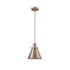 This item: Franklin Restoration Antique Copper Eight-Inch One-Light Mini Pendant with Appalachian Antique Copper Metal Shade