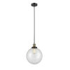 This item: Franklin Restoration Black Antique Brass 10-Inch LED Pendant with Clear Glass Shade