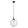 This item: Franklin Restoration Black Antique Brass 12-Inch LED Pendant with Seedy Beacon Shade