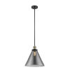 This item: X-Large Cone Black Antique Brass One-Light Hang Straight Swivel Pendant
