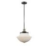 This item: Franklin Restoration Black Antique Brass 12-Inch One-Light Pendant with Matte White Cased Large Oxford Shade