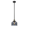 This item: Large Bell Black Antique Brass 10-Inch One-Light Mini Pendant with Smoked Dome Glass