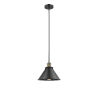 This item: Briarcliff Black Antique Brass LED Hang Straight Swivel Pendant