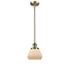 This item: Fulton Brushed Brass Nine-Inch LED Mini Pendant with Matte White Cased Sphere Glass