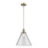 This item: X-Large Cone Brushed Brass LED Pendant