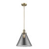 This item: X-Large Cone Brushed Brass LED Hang Straight Swivel Pendant