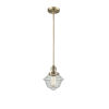 This item: Small Oxford Brushed Brass LED Hang Straight Swivel Mini Pendant with Seedy Glass