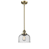This item: Large Bell Brushed Brass 10-Inch LED Mini Pendant with Seedy Dome Glass