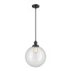 This item: Franklin Restoration Matte Black 12-Inch One-Light Pendant with Clear Beacon Shade