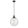 This item: Franklin Restoration Matte Black 12-Inch One-Light Pendant with Seedy Beacon Shade